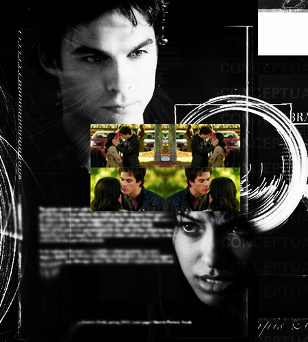 Damon & Bonnie wallpaper containing anime called Damon/Bonnie