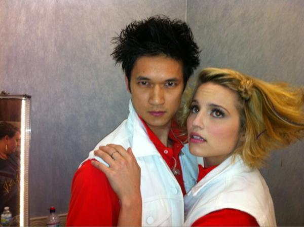 Dianna and Harry - glee photo