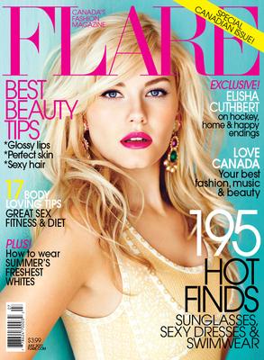 Elisha Cuthbert - Flare Magazine (July 2011)