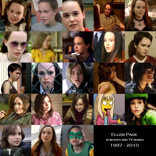Filme Hintergrund probably with a portrait titled Ellen Page on the screen (1997 - 2010)