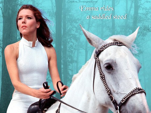 Emma rides a saddled ross