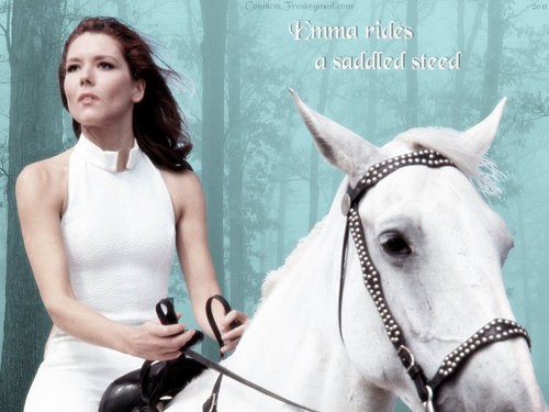 Emma rides a saddled kuda, steed (lightened)