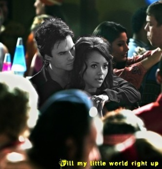 Damon & Bonnie wallpaper probably containing a portrait titled Fill my little world right up...Bamon