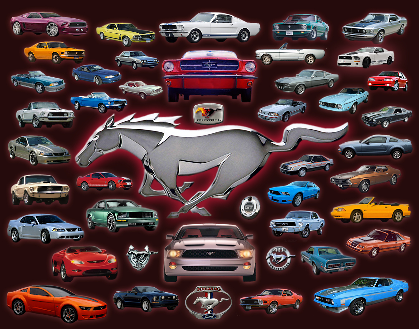 Ford Mustang Collage Ford Photo 22556158 Fanpop