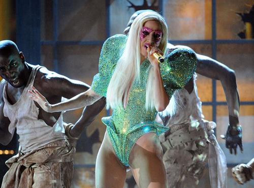 Gaga performing