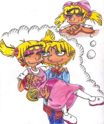 Helga Daydreams about She and Arnold as Teens in Love - hey-arnold Fan Art