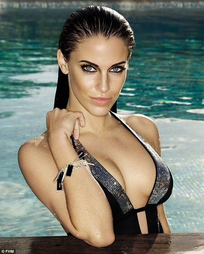Jessica Lowndes wallpaper with a bikini titled Jessica - FHM UK (July 2011)