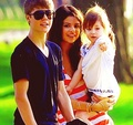 Justin & Selena with Jazzy, Jaxon and Jeremy