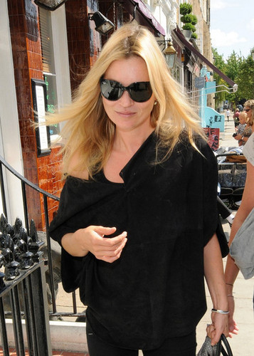Kate Moss enjoys a shopping trip in Notting Hill.