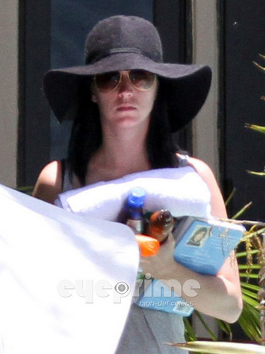 Katy Perry in a Bikini at her Hotel in Miami, June 2nd