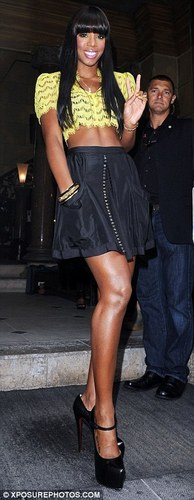 Kelly Rowland wallpaper probably with bare legs and a hip boot titled Kelly Rowland : X-Factor Auditions in Birmingham