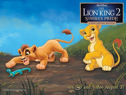 The Lion King 2:Simba's Pride wallpaper possibly with anime entitled Kiara & Kovu