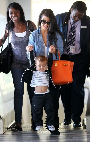Kourtney & Mason at JFK Airport.