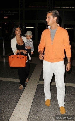Kourtney at LAX Airport