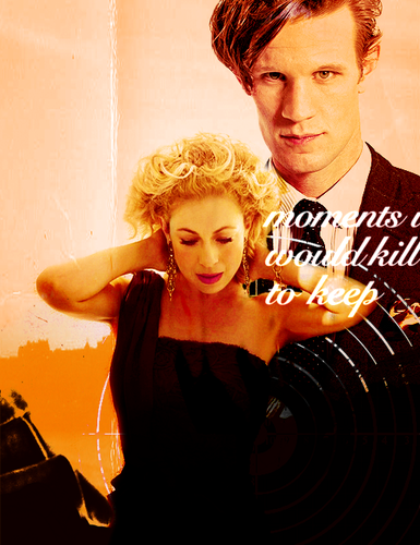 The Doctor and River Song wallpaper titled Matt Smith & Alex Kingston