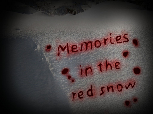 Memories in the red snow - title