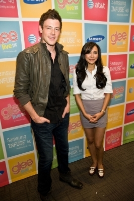 Naya Rivera and Cory Monteith