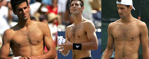 Novak Topless x3!! (Love Everyfing Bout The Serbernator) 100% Real ♥