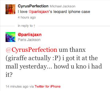 Paris tweets about going to the mall 5/31/2011