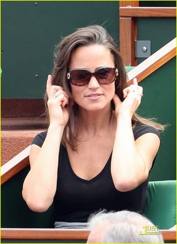 Pippa Middleton: French Open fan