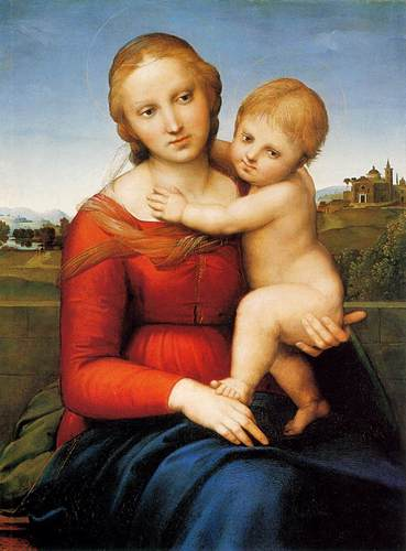 RAFFAELLO Madonna and Child (The Small Cowper Madonna)