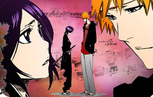Bleach Anime Wallpaper Containing Called RUKIA AND ICHIGO