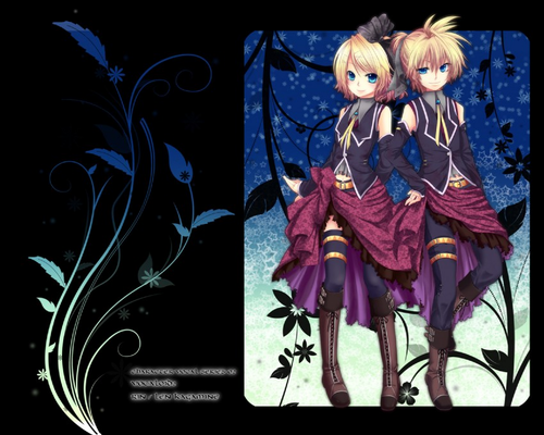 Vocaloid wallpaper possibly with anime titled Rin & Len- Romeo & cinderella