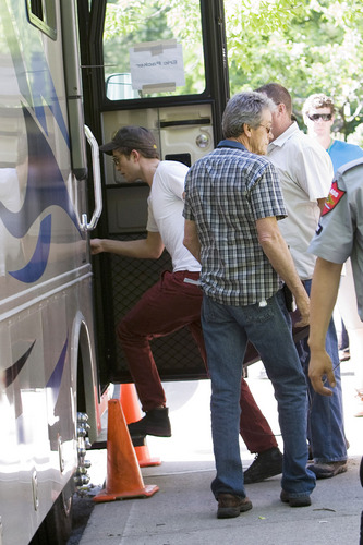 Rob on the set of cosmopolis (1st June)