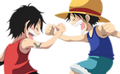 Ruffy & Ace - one-piece photo