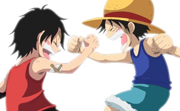 One Piece One Piece Chibi Luffy And Ace