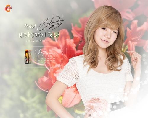 SNSD Sunny Vita500 June 2011 Calendar