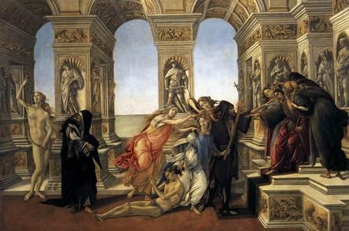Sandro BOTTICELLI Calumny of Apelles