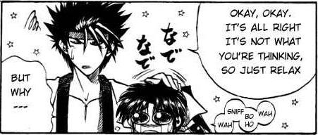 RuroKen Manga- Sanosuke and Kaoru