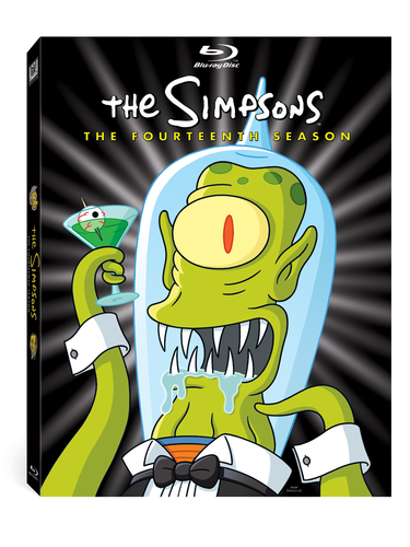 Les Simpsons fond d'écran with animé entitled Season 14 DVD Cover :)