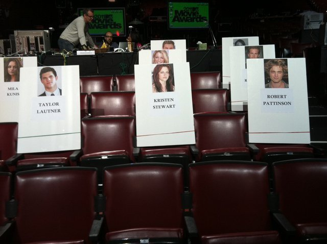 Seating arrangements for 2011 MTV Movie Awards