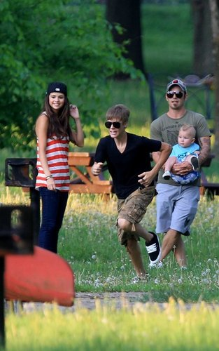 Selena Gomez and Justin Bieber in Toronto