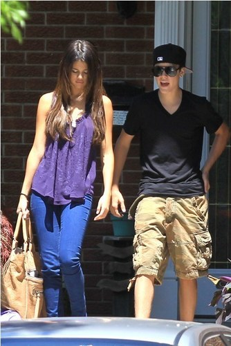 Selena - Hanging Out With Justin Bieber In Toronto - June 1, 2011