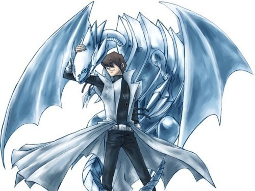 Seto and Blue Eyes White Dragon - seto-kaiba Fan Art