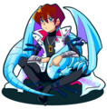 Seto and Blue Eyes White Dragon