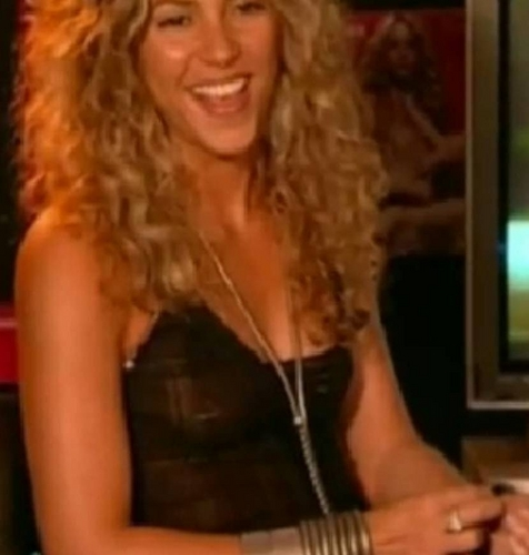 Shakira before years revealed dark nipples!