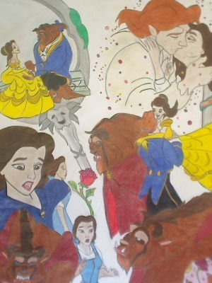 "Small Beauty and the Beast Mural: ""A Liebe Blossoms"""