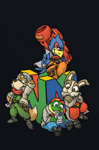 Star Fox wallpaper containing anime titled Team and N64