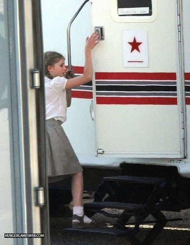 The Hunger Games - On set (May 31, 2011)