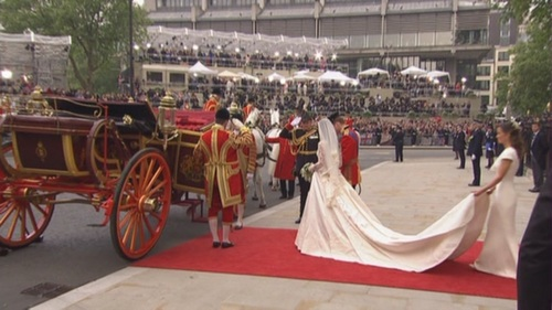 Prince William and Kate Middleton wallpaper with a stagecoach and a chuck wagon entitled The Royal Wedding - HRH Prince William & Catherine Middleton