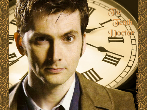 Doctor Who wallpaper probably containing a business suit titled The Tenth Doctor