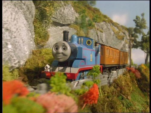 Thomas the Tank Engine Hintergrund probably with a railroad tunnel titled Thomas in Series 4