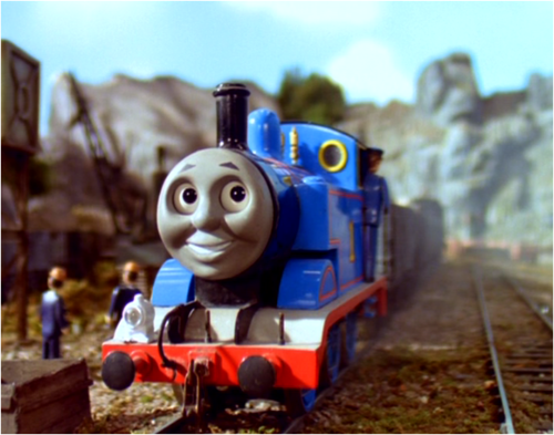 Thomas the Tank Engine kertas dinding called Thomas in Series 5