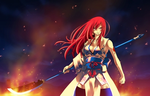 Erza Scarlet wallpaper probably containing a konser called Titania