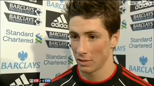 Fernando Torres wolpeyper called Torres post Chelsea match interview 07/11/2010