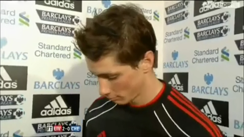 Fernando Torres achtergrond containing a portrait called Torres post Chelsea match interview 07/11/2010